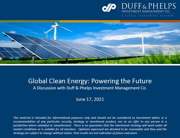 Global Clean Energy Webinar 6.17.21-cover page